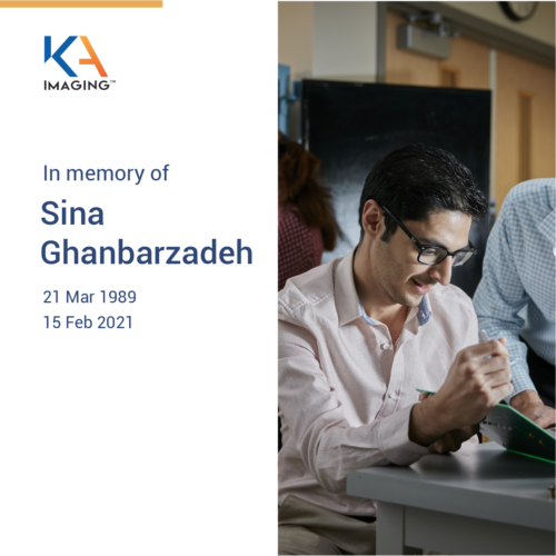 Photo of Sina Ghanbarzadeh, KA Imaging's co-founder, who passed away